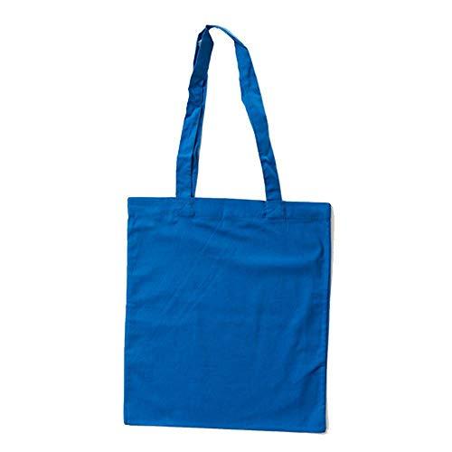 Bags by Jassz Stoffbeutel aus Baumwolle mit langen Henkeln (ca. 38 x 42 cm, Royalblau)