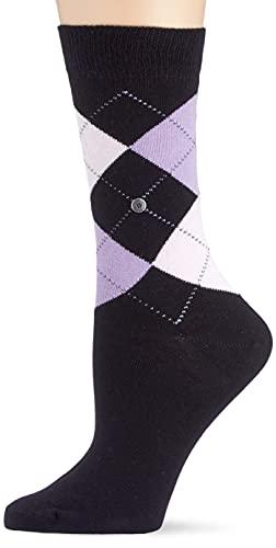 Burlington Damen Queen W SO Socken, Schwarz (Black-Flames 3011), 36-41