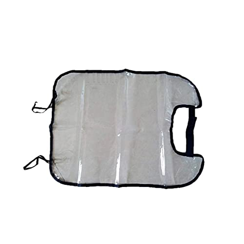 GGOOD Asiento Trasero del Coche Protectores Anti-Sucia del Coche del vehículo Auto Asiento Trasero del Protector de la Cubierta Transparente Desmontable Cuelgue Pad (Negro)