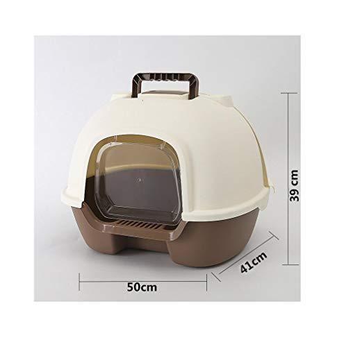 Yanxinejoy wastafel voor katten, volledig gesloten, deodorant tegen vlekken, katten, extra grote wastafel voor katten, duurzaam, Blue