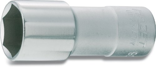 HAZET Douille à Bougies 900MGT ∙ Carré Creux 12,5 mm (1/2 Pouce) ∙ Profil à 6 pans extérieurs ∙ Taille: 20.8 13/16 ∙ Longueur : 68 mm, Multicolore