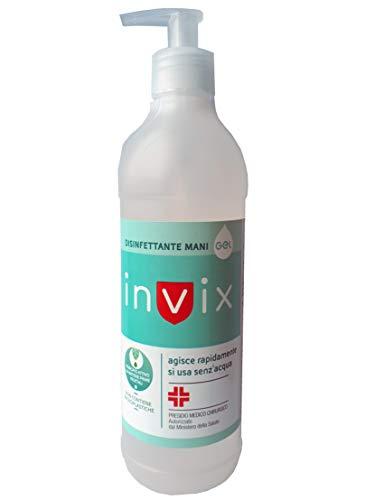 Invix 500 ml – Desinfectante de manos Gel para artículos médicos quirúrgicos autorizados por el Ministerio de Sanidad
