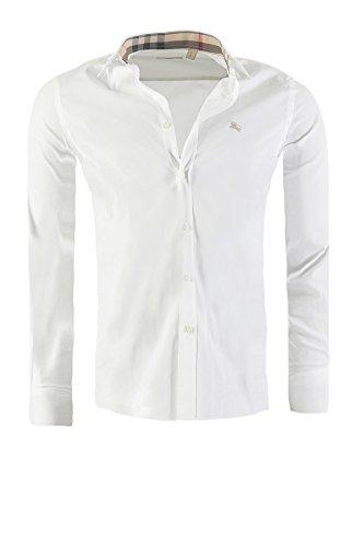 Camicia BURBERRY BRIT Mens slim fit, in diversi colori, Colore:bianco, Dimensione:XXL