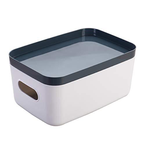 Küchen-Tisch Aufbewahrungsbox Schrank Besteck-Box mit Deckel Aufbewahrungsbox aus Kunststoff Kosmetik-Aufbewahrungsbox,groß