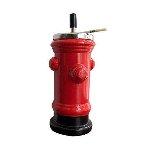 Aschenbecher Hydrant Keramik Aschenbecher Kreative Persönlichkeit Trends Ins Wind Süße Koreaner Mit Deckel Süße Mädchen Mode (Color : Red, Size : F)