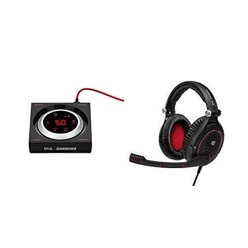 EPOS | SENNHEISER GSX 1200 PRO Gaming Audio Amplifier / External Sound Card & I SENNHEISER Game Zero Gaming Headset, Closed Acoustic with Noise Cancelling Microphone