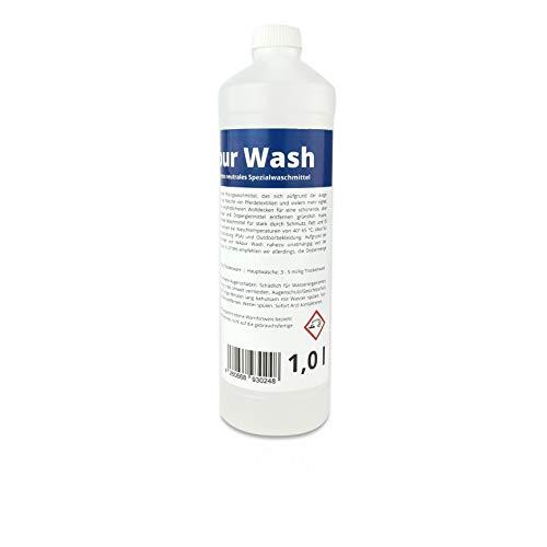 WAbur Wash Waschmittel flüssig 1 l hochkonzentriert Spezialwaschmittel für Pferdedecken, Outdoor-, Sportkleidung