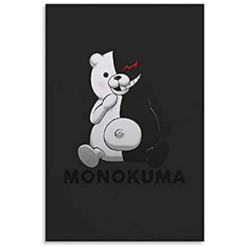 Kingkoil Póster de anime Danganronpa Monokuma pintura decorativa lienzo pared arte sala de estar carteles dormitorio pintura 30 x 45 cm NoFramed