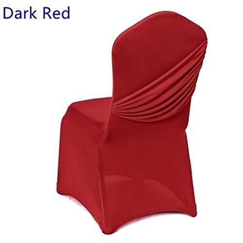 ZZYLHS 17 Farben Hochzeit Stuhlhussen Eine Quer Abdeckung Plissee Stuhl Hochzeit Dekoration (Color : Red, Size : Fit All Chairs)