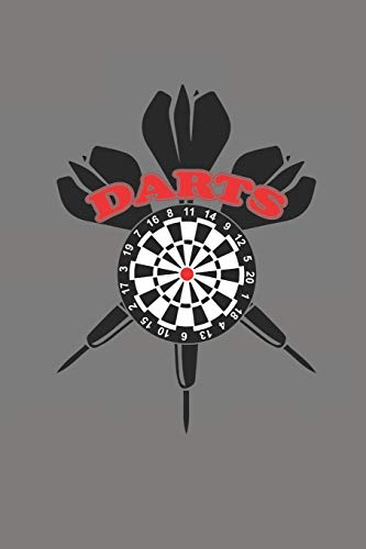 DARTS: NOTIZBUCH Dart Bullet Journal 6x9 Darts Notebook Punkteraster