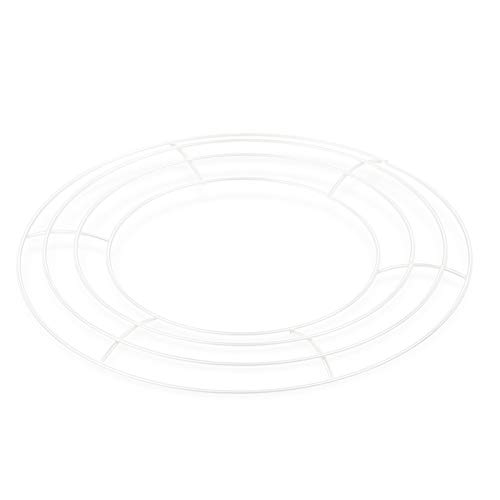 æ— 5pcs White Wreath Frame, Metal Wire Wreath Rings Floral Hoop Set for New Year DIY Macrame Floral Dreamcatcher Craft