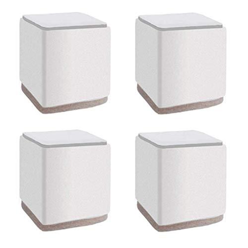 XHNXHN Patas de Muebles Patas de Mesa de Metal Patas de Muebles 5 cm Pies Cuadrados de Repuesto Elevadores de Muebles Patas de sofá Patas de sofá Patas de Escritorio Armarios de Cama Elevadores de
