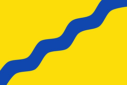 magFlags Bandera Large Municipio de Fresnedoso de Ibor; en Cáceres | Bandera Paisaje | 1.35m² | 90x150cm