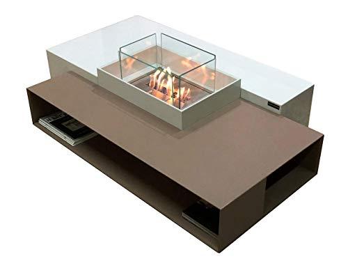 Tavolino moderno a bioetanolo/biocamino/camino a bioetanolo/caminetto bio etanolo in Lapitec e bio blaze