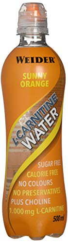 Weider L-Carnitine Water, Sunny Orange, 500 ml