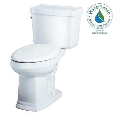 Allerton 2-Piece High Efficiency Elongated ErgoHeight Toilet in White