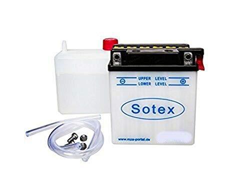 Sotex Batterie 6V 4,5Ah Typ 6N4,5-1D für Simson KR51/1, KR51/2, SR4-2, SR4-3, SR4-4, SR50 B inkl. 7,50EUR Pfand