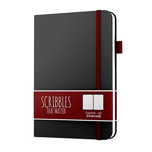 Scribbles That Matter - Diario con puntos para crear tu propia vida organizadora, cuaderno de tapa dura A5 sin sangrado, con bolsillo interior, papel apto para plumas estilográficas, cubierta suave