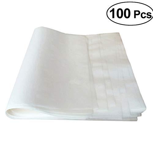 BESTONZON 100pcs Backpapier Pergamentpapier Antihaft Papier zum Backen Grillen 25x35 cm