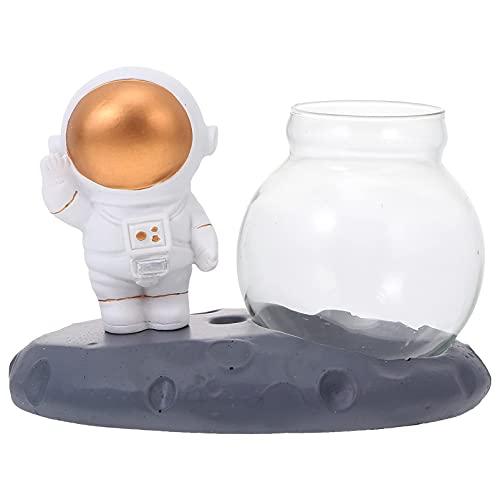 LIXBD Hydrokultur-Glasvase mit Astronauten-Figur, dekorative Pflanze, Terrarium, Pflanzgefäß, Hochzeit, Tafelaufsatz für Planeten, Geburtstagsparty, Dekoration, Geschenke (Farbe: wie abgebildet 1)