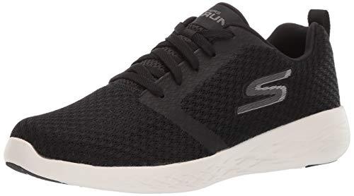 Skechers Men's GO Run 600-CIRCULATE Sneaker, Black/White, 12 M US