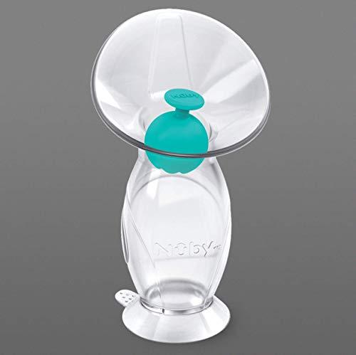 Nuby ID67790 - Pompa per allattamento/tiralatte manuale in silicone