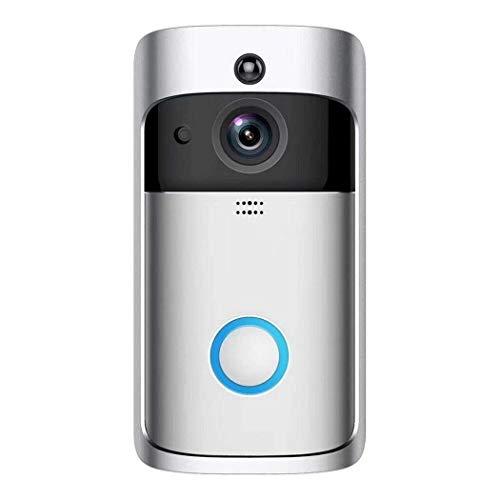 WHSS cámara De vídeo HD con timbre de la puerta de vídeo, cámara de vídeo Smart Wireless WiFi timbre de la puerta de seguridad con HD nocturna de la detección de movimiento PIR de la visión de dos vía