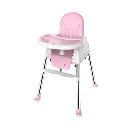 CML Salle à bébé Chaise Enfant Chaise réglable Sitting Enfant Portable Multifonctionnel Manger bébé Siège de Table Bleu Facile à Utiliser (Color : Pink)