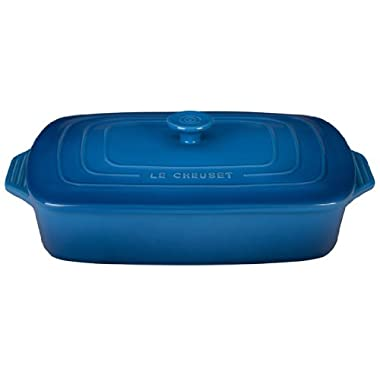 Le Creuset Stoneware Covered Rectangular Casserole, 12.5 by 8.5-Inch, Marseille