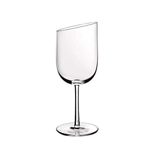 Villeroy & Boch Newmoon Servizio Calici Vino, Bicchieri Contemporanee e Eleganti, Cristallo, Lavabili in Lavastoviglie, Glass, Trasparente