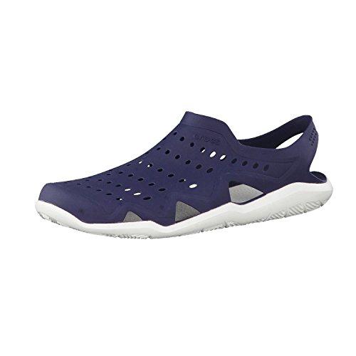 Crocs Swiftwater Wave M Zapatos de agua Hombre, Azul (Sea/Blue/White/Strap), 37-38 EU (4 UK)