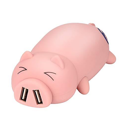 Powerbank Alikeey 10000mAh mobiele telefoon externe batterij leuke Piggy ontwerpen draagbare dubbele USB-poort energie-bank voor iPhone X XS Max, 8Plus Samsung Huawei en andere smartphones