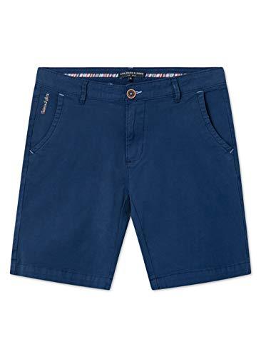 Colours & Sons Herren Shorts Charles - Reine Baumwolle, Uni, dunkelblau, Modern Fit,2XL