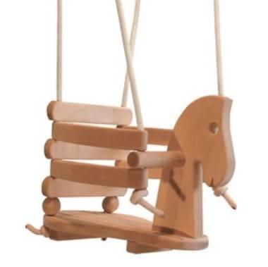 GICO Pferdeschaukel Gitterschaukel Babyschaukel aus Holz