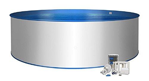 Pool Basic Rundform Ø 4,50m x 1,20m 0,8mm Folie mit Keilbiese 0,6mm, Stahlwand 0,6mm mit Skimmer-Set