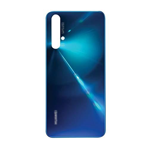 Protector de Pantalla Incorporado Impermeable Cubierta Batería Reparación De Vidrio Fit For Huawei Nova 5T Caja Carcasa De La Puerta Trasera del Panel De Vidrio Trasero 6.26' (Color : Blue)
