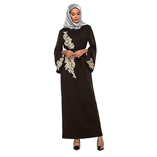 Las Mujeres de Fullsleeve Ropa Musulmanes Abaya Maxi Vestido, Túnicas Árabes Musulmanes...