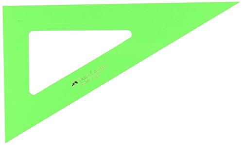 Faber-Castell 666 - Cartabón de 21 cm, color verde