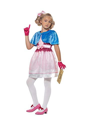 Smiffy's Smiffys Officially Licensed Roald Dahl Deluxe Veruca Salt Costume Dress-Up Disfraz de sal, color rosa, M-7-9 Years 41543M