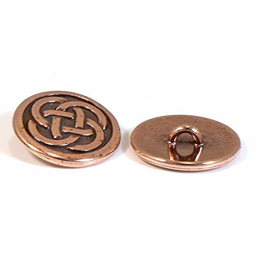 TierraCast Pewter Buttons-COPPER CELTIC KNOT (2)