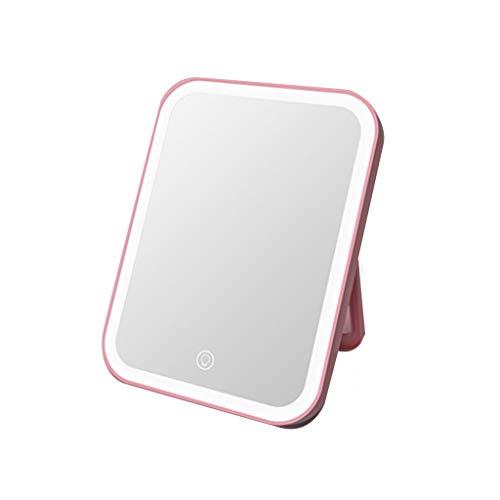 Mirror Miroir De Maquillage/Miroir De Coiffure/Miroirs Cosmétiques À Poser Petit Miroir Pliant Portable LED