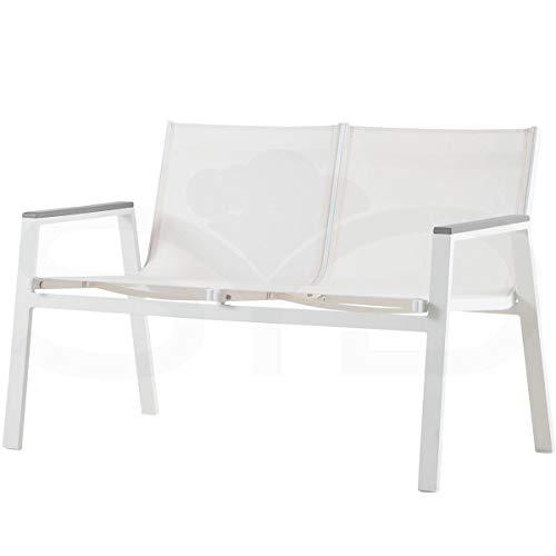 Sofá 2 plazas Aluminio de Exterior 1ª Calidad. Mod. Inca