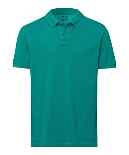 BRAX heren stijl Pelé Garment Dye Piqué poloshirt