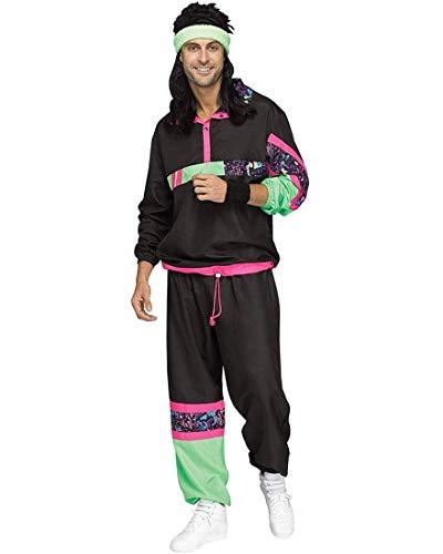 Men's 80s Male Track Suit Costume, Standar or Plus Sizes