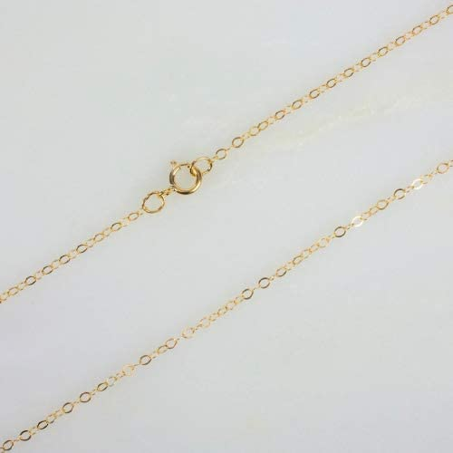 14k Gold Filled Flat Cable Chain Necklace W/ 14K Gold Filled Spring Clasp (36 Inches)