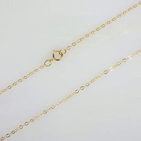 2324-20 14kt Gold Filled 6x8mm Flat Hammered Cable Chain 20ft discounted price 1