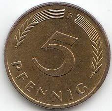 Generisch BRD (BR.Deutschland) Jägernr: 382 1994 F sehr schön Eisen, Messing plattiert 1994 5 Pfennig Eichenzweig (Münzen für Sammler)