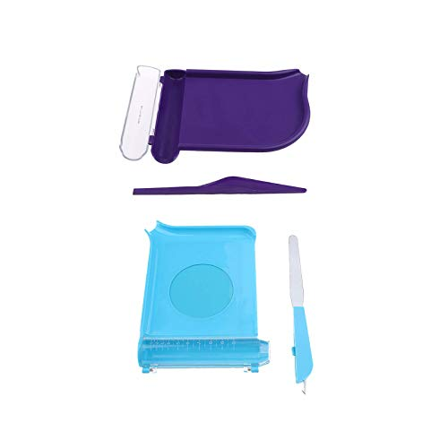 Bandeja para contar, 2 tipos, espátula, contador de píldoras, cortador de farmacia, morado y azul, 2 unidades