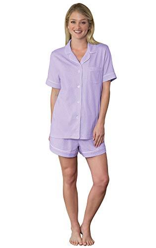 PajamaGram Womens Pajama Sets Cute - Soft Pajamas for Women, Lavender, XS, 2-4