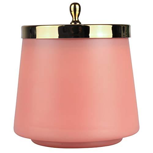 La Jolíe Muse Aprikose & Rose Duftkerze, natürliches Wachs, Kerze für zu Hause, 75 Stunden Brenndauer, ovaler Glasbehälter, 350g